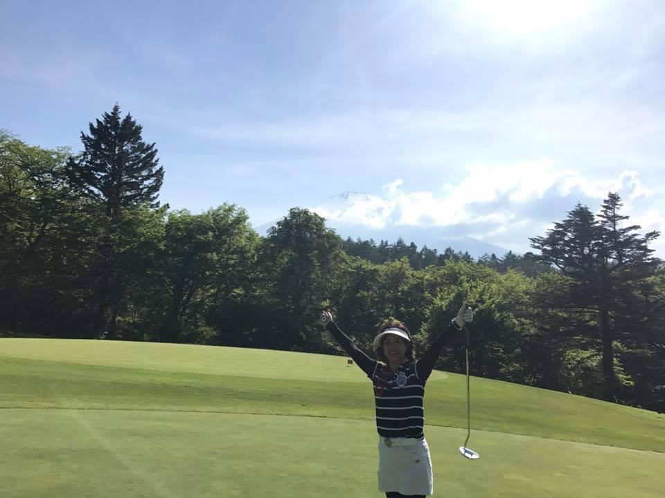 富士山をみて3日連続golf.jpg