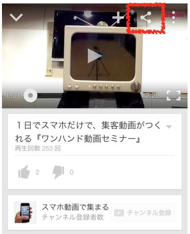 YouTube 動画 URL iPhone