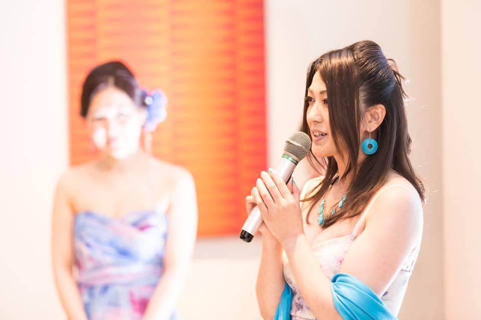 元ミスワールド日本代表ゆうよう子さんによる乾杯