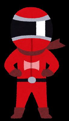 戦隊もののキャラクターのイラスト(レッド).png