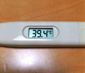 体温計39度超え
