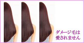艶髪画像3スタイル半分「ダメージ毛は愛されない。」