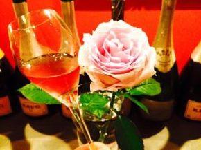 ピンクのバラとロゼ