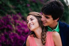 恋人たちの笑顔