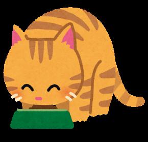 ごはんを食べる猫.png