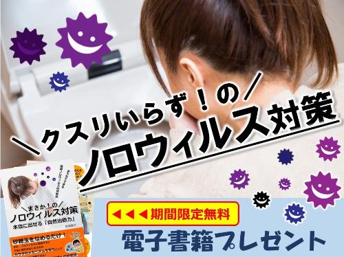 【無料小冊子】薬を使わないお家でできるノロウィルス対策