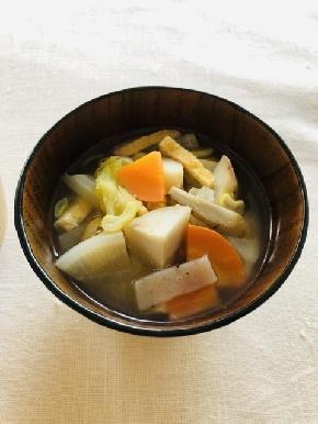 冬の重ね煮味噌汁